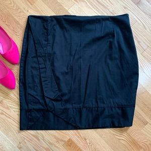 Ashley Stewart Black Pleated Pencil Skirt 22W